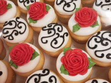 Elegant Piped Cupcakes