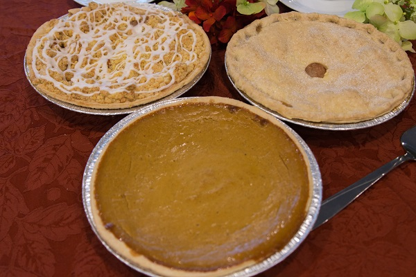 Pies at Lindas Bakery, West Salem, Wisconsin